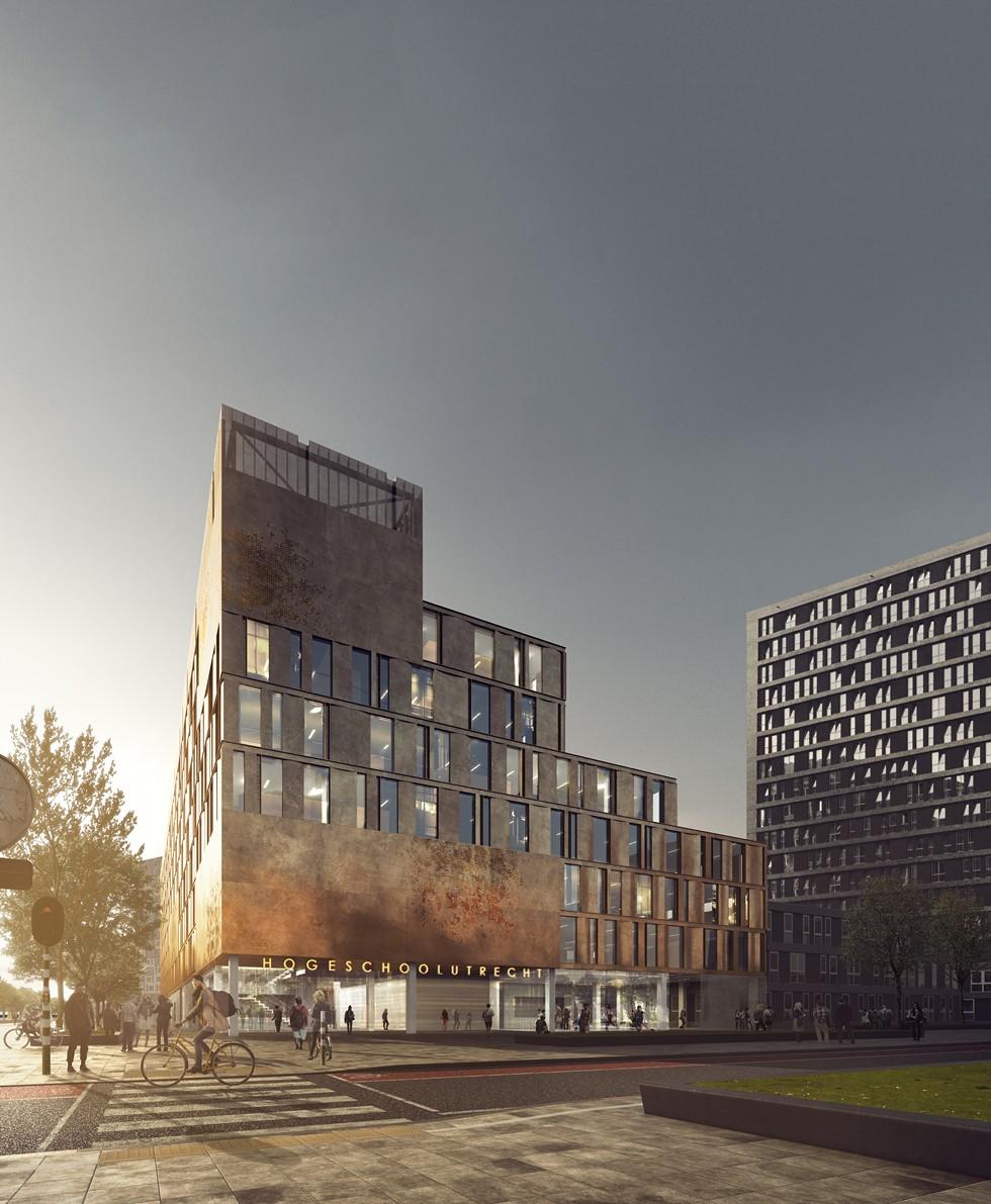 Schmidt Hammer Lassen Architects_Utrecht University College_street view (Copy)