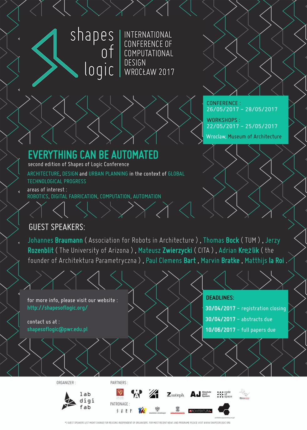 Architektura Parametryczna Konferencja Shapes Of Logic We Wrocawiu Diagram